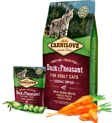Carnilove Cat Adult, Hairball Control, Duck & Pheasant 6kg